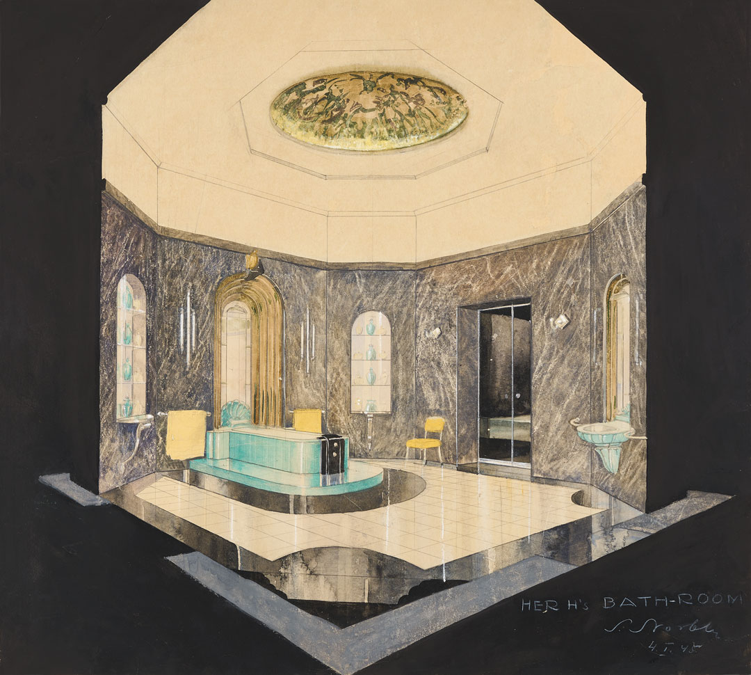 Design for Her Highness's Bathroom at Umaid Bhawan Palace, 1944