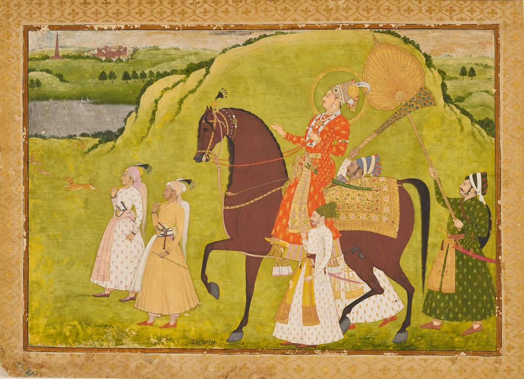 Maharaja Abhai Singh on Horseback, ca. 1725