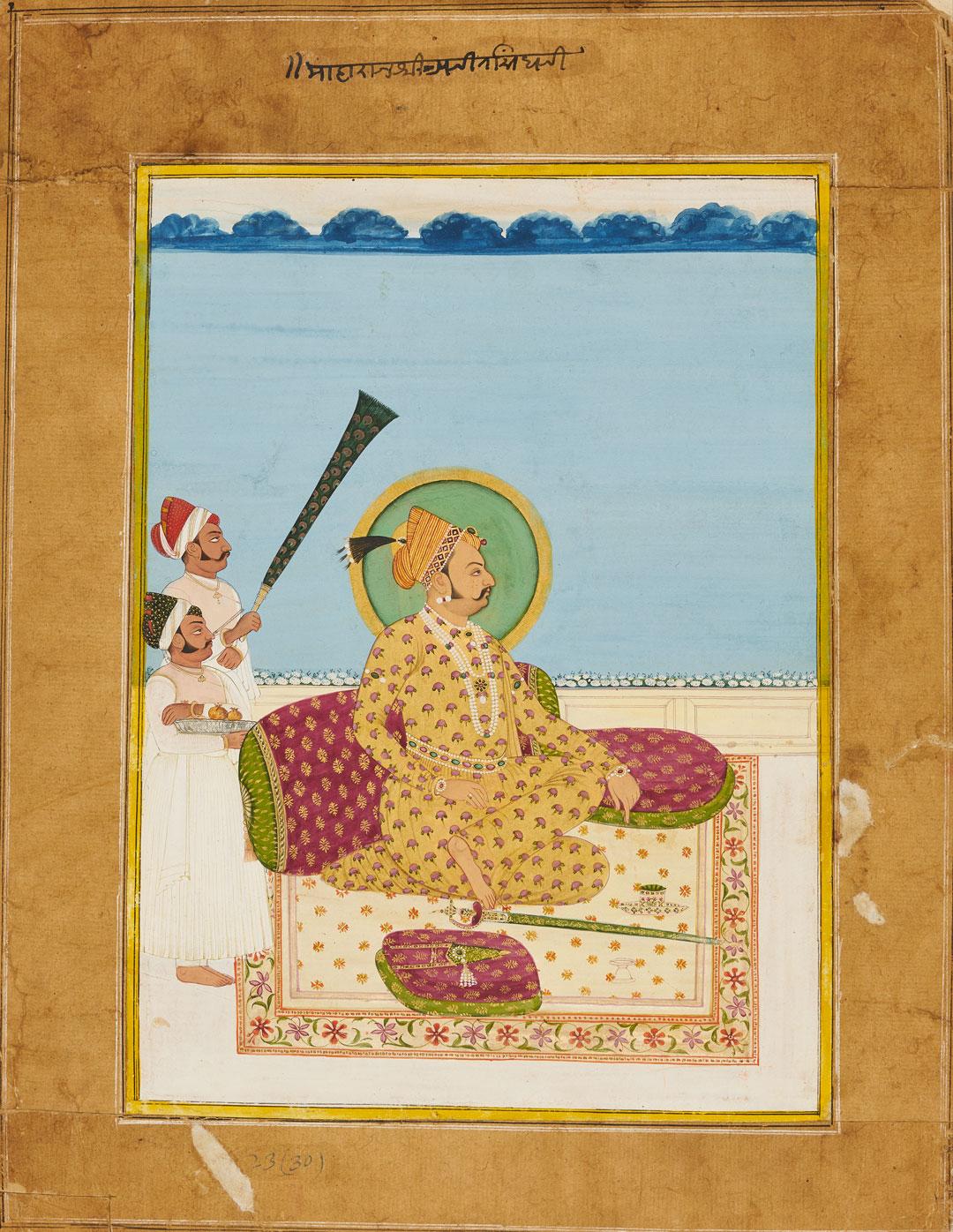 Portrait of Maharaja Ajit Singh, ca. 1830