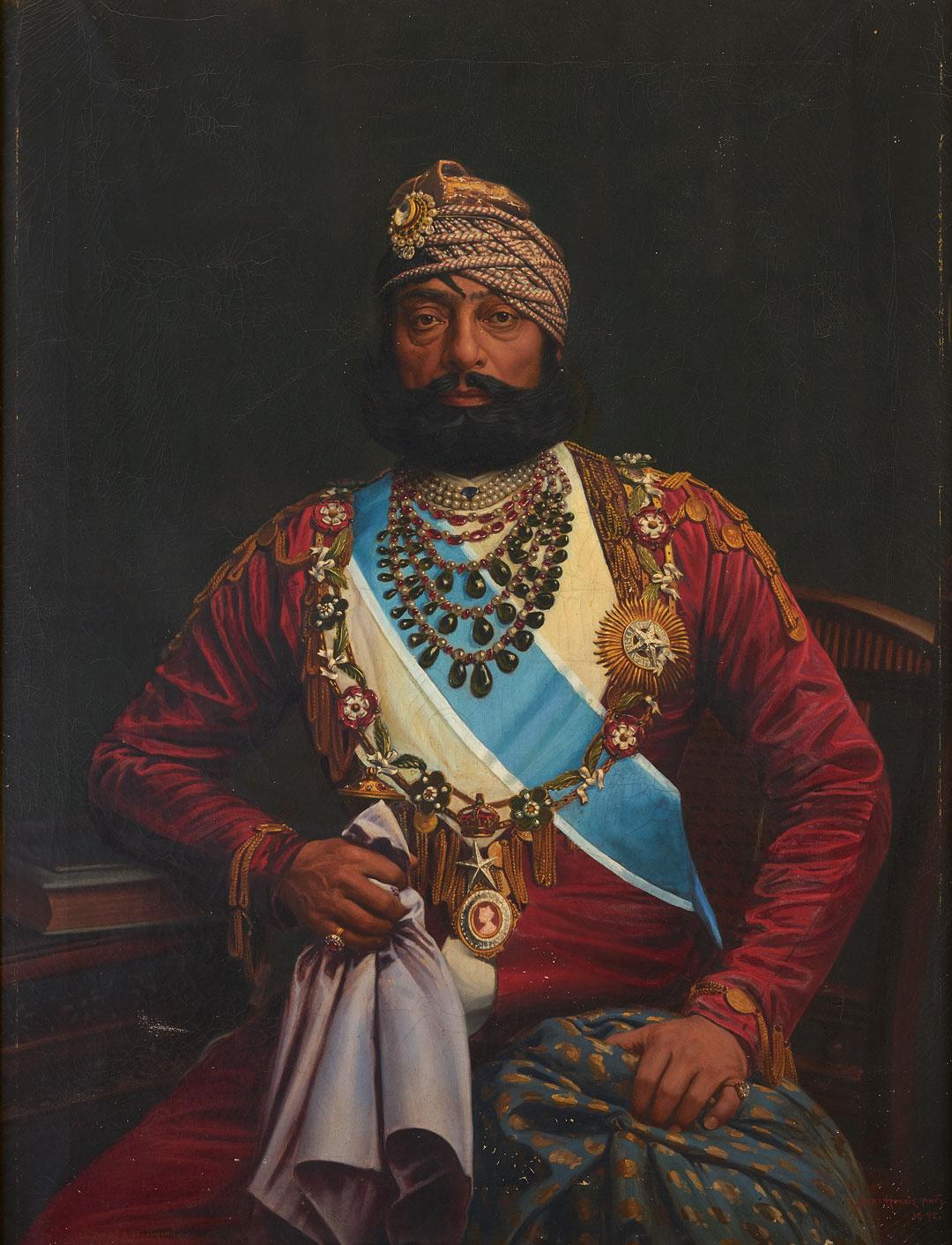 Portrait of Maharaja Jaswant Singh II, 1895