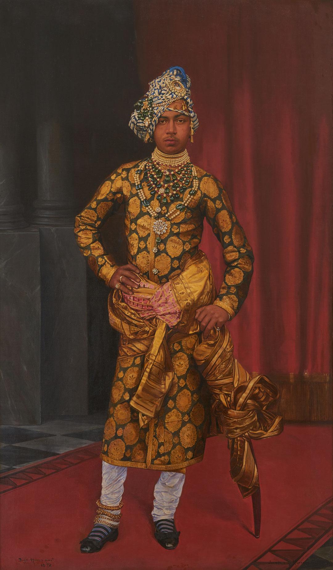 Portrait of Maharaja Sardar Singh, 1896