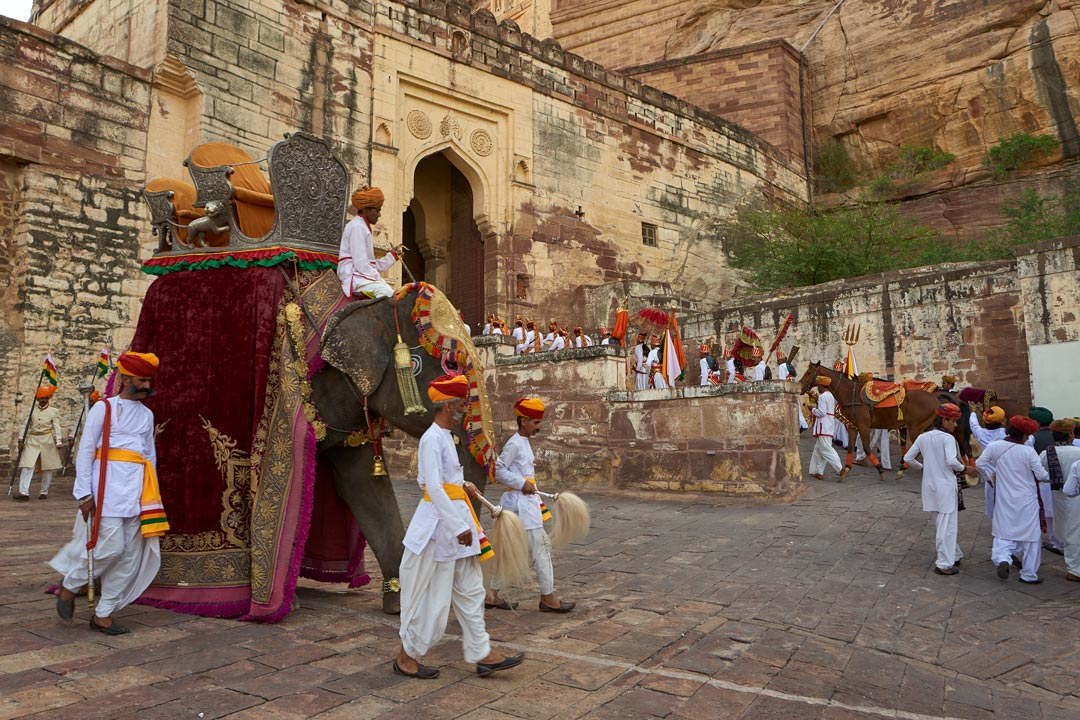 Royal Procession recreated at Mehrangarh Fort, Jodhpur