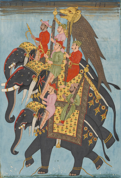 The Mahi-o-maratib (Fish Insignia) in Procession, ca. 1715