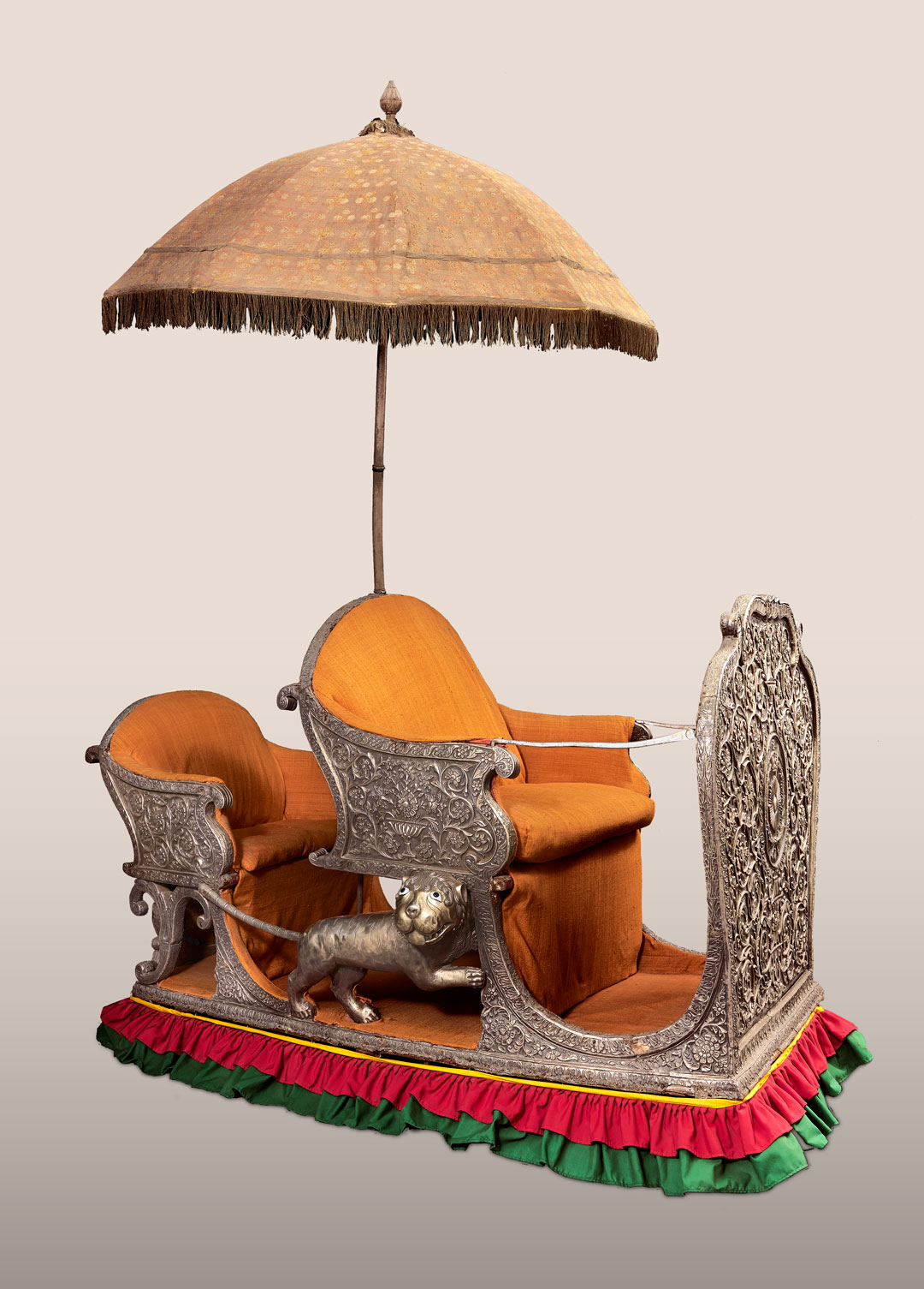 Howdah with Chattr (Elephant Seat with Parasol), early 19th century