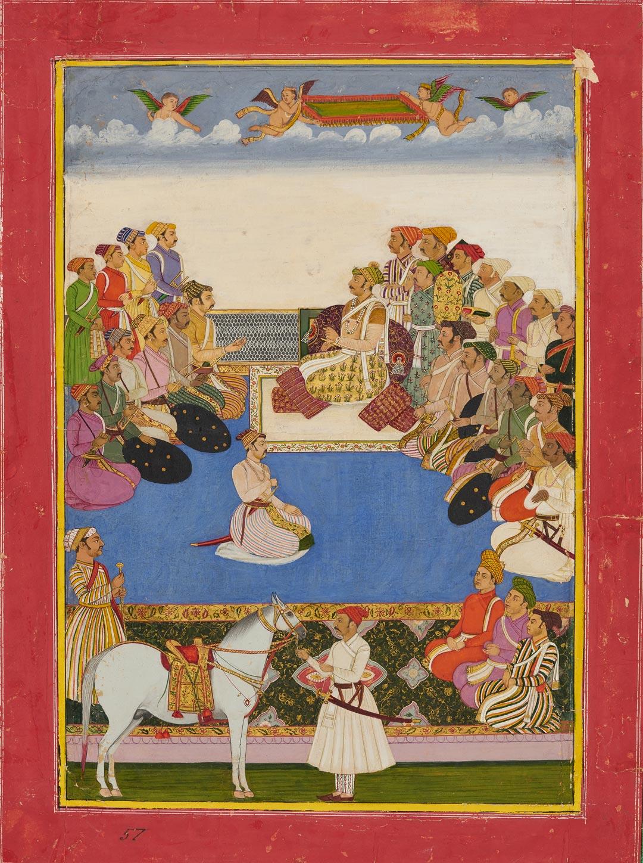 Maharaja Gaj Singh I Holding Court, ca. 1800